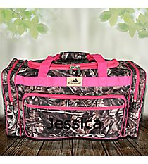 "23"" BNB Natural Camo Duffle Bag with Hot Pink Trim #N423-HPINK"