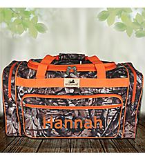 "23"" BNB Natural Camo Duffle Bag with Orange Trim #N423-ORANGE"