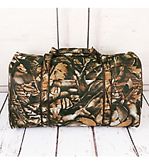 BNB Natural Camo with Brown Trim Duffle Bag #N632S-BROWN