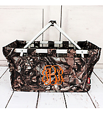 BNB Natural Camo Collapsible Market Basket #N696-BROWN