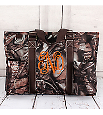 BNB Natural Camo Utility Tote with Brown Trim #N731-BROWN
