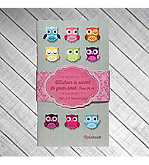 """Wisdom"" Owl Set Of 3 Notebooks #NBS013"