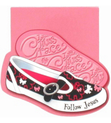 "Little Miss Grace ""Follow Jesus"" Shoes Notepad #NPD001"