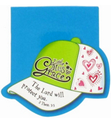 Little Miss Grace 2 Thessalonians 3:3 Cap Notepad #NPD003