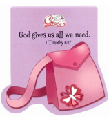 Little Miss Grace 1 Timothy 6:17 Purse Notepad #NPD005