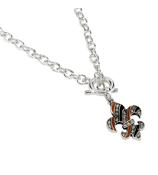 """18"""" Crystal Fleur De Lis Necklace #49990-FDL"""