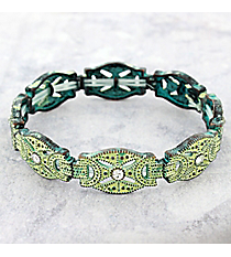 Crystal Accented Antiqued Western Stretch Bracelet #OB06465-PTIVY