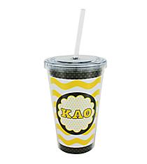 Kappa Alpha Theta 16 oz. Double Wall Tumbler with Straw #OMG-SIP-KAT