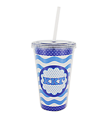 Kappa Kappa Gamma 16 oz. Double Wall Tumbler with Straw #OMG-SIP-KKG