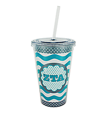 Zeta Tau Alpha 16 oz. Double Wall Tumbler with Straw #OMG-SIP-ZTA