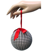 "4"" Houndstooth Ball Ornament #93209"