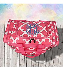 "17"" Pink Moroccan Geometric Duffle Bag #OTG417-PINK"