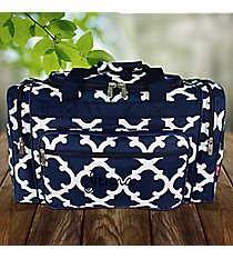 "20"" Navy Moroccan Geometric Duffle Bag #OTG420-NAVY"