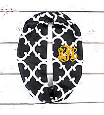 Black Moroccan Geometric Infinity Scarf #OTG589-BLACK