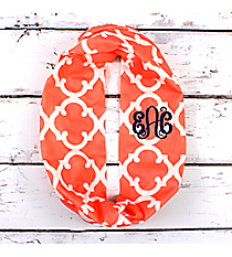 Coral Moroccan Geometric Infinity Scarf #OTG589-CORAL