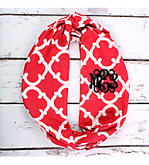 Hot Pink Moroccan Geometric Infinity Scarf #OTG589-HPINK