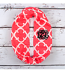 Pink Moroccan Geometric Infinity Scarf #OTG589-PINK
