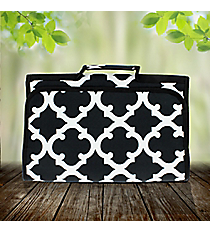Black Moroccan Geometric Roll Up Jewelry Bag #OTG716-BLACK