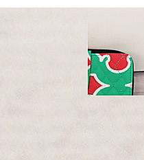 Mint and Coral Moroccan Geometric Quilted Organizer Clutch Wallet with Navy Trim #OTP517-NAVY