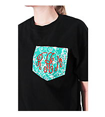 Monogrammed Pocket Applique Short Sleeve Relaxed Fit T-Shirt *Customizable!