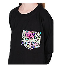 Personalized Pocket Applique Youth Long Sleeve Relaxed T-Shirt *Customizable!