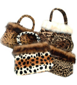 ONE ANIMAL PRINT FUR BAG #7344-SHIPS ASSORTED