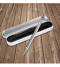 Walks With God Engraved Pen in Gift Tin #PEN17