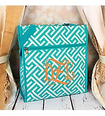Light Blue and White Greek Key Maze Shopper Tote #TH3013-185-LT/W