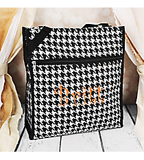 Houndstooth with Black Trim Shopper Tote #PH3013-606-B