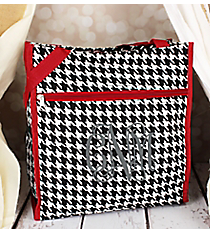 Houndstooth with Red Trim Shopper Tote #PH3013-606-R