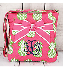 Pineapple Of My Eye Quilted Crossbody with Pink Trim #PIL1717-PINK