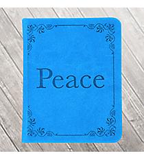 "Blue LuxLeather ""Peace"" Pocket Inspirations #PKI003"