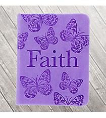 "Purple LuxLeather ""Faith"" Pocket Inspirations #PKI005"