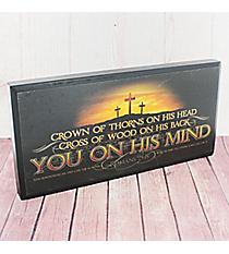 Romans 5:8 Cross Wall Art Plaque #PLA011