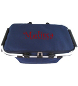 Navy Collapsible Insulated Market Basket with Lid #PT658-NAVY