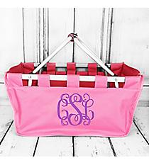 Pink Collapsible Market Basket #PT696-PINK