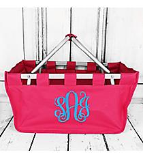 Hot Pink Collapsible Market Basket #PT696-HPINK