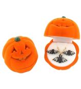 Halloween Pumpkin Box with Necklace and Earring Set #HAW-SET-ASST