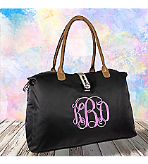 Black Turn-Lock Weekender Bag #R802-BLACK
