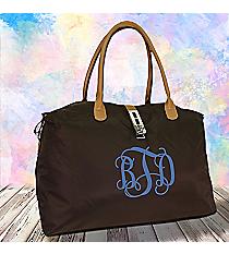 Chocolate Brown Turn-Lock Weekender Bag #R802-CHO/BRO