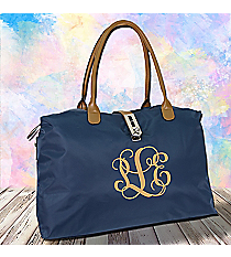 Navy Turn-Lock Weekender Bag #R802-NAVY