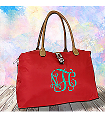 Red Turn-Lock Weekender Bag #R802-RED