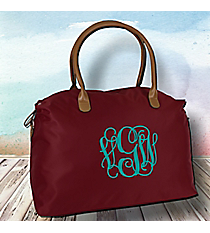 Burgundy Weekender Bag #R803-BURGUNDY