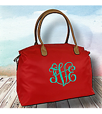 Red Weekender Bag #R803-REDer Bag #R803-CHO/BRO