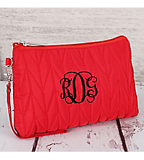 Red Quilted Cosmetic Case #9007-RED
