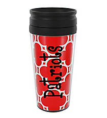 Red Quatrefoil 14 oz. Travel Tumbler with Black Lid #WLCM338PP-CL-U