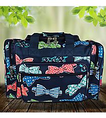 "17"" Fanciful Bow Ties Duffle Bag #RIB417-NAVY"