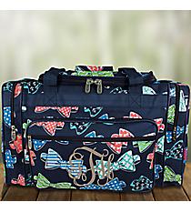 "20"" Fanciful Bow Ties Duffle Bag #RIB420-NAVY"