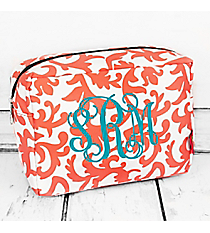 Coral Ivy Damask Cosmetic Case #RMC613-GRAY