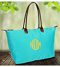 Solid Turquoise Large Tote Bag #ROL553-TURQ
